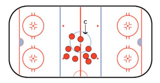 Knock Away Hockey Stickhandling Drill