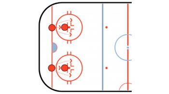 stationary stickhandling drill