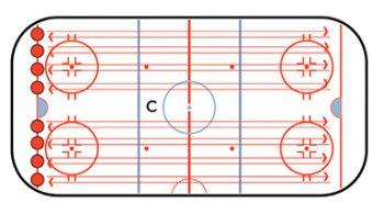 push and glide hockey skating drill